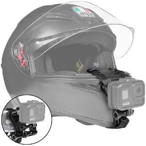 motorcycle helmet chin mount strap