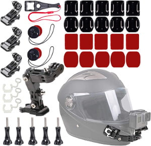 motorcycle riding helmet chin mount